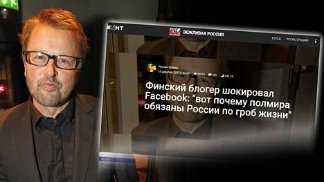 """Venäläispropagandaan valjastettu Atte Korholan kuva on alkujaan Ilta-Sanomien Ari-Veikko Peltosen ottama vuonna 2011. Kuva on julkaistu sen jälkeen ainakin pari kertaa IS:n nettisivuilla, mistä se on otettu luvatta """"Veikko Korhosen"""" kasvokuvaksi."""