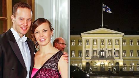 Tero Pitkämäki ja Niina Kelo olivat Linnan juhlissa viime itsenäisyyspäivänä.