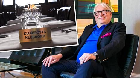 Pörssiklubin jäsen, liikemies Kyösti Kakkonen ei hyväksyisi naisia klubin jäseniksi.