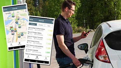 Riku Pelander kehitti mobiilisovelluksen, joka ilmoittaa ajantasaiset bensanhinnat matkan varrelta.