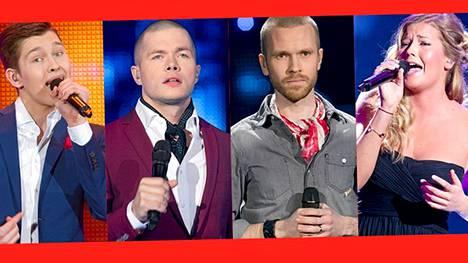 Ensimmäisestä The Voice of Finland -livelähetykestä jatkoon menivät Erik Niemi, Jussi Kari, Juho Schroderus ja Emma Schnitt.