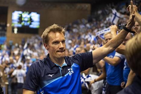 Tuomas Sammelvuo on valmentanut Suomen lentopallomaajoukkuetta vuodesta 2013.