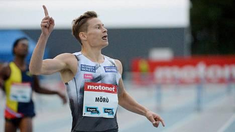 Oskari Mörö juoksi kauden kärkiaikansa Saksassa.