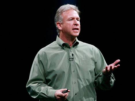 Applen markkinointijohtaja Phil Schiller kehittäjätapaamisessa vuonna 2012.