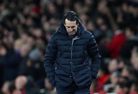 Arsenalin luotsi Unai Emery joutui pettymään perjantaina.