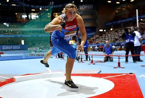 Jevgenia Kolodko oli Lontoossa ensin kolmas, nousi sitten toiseksi ja menettää nyt mitalinsa kokonaan.