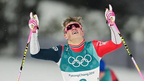 Johannes Kläbo on 23-vuotiaana voittanut jo kolme olympiakultaa ja kolme maailmanmestaruutta.
