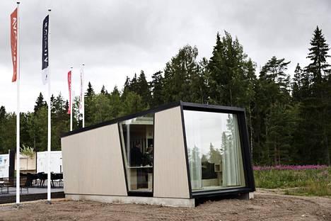 Vuolas-minitalo asuntomessuilla Kouvolassa heinäkuussa 2019.