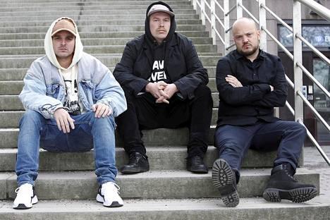 Teflon Brothers -yhtyeen muodostavat Voli, Heikki Kuula ja Pyhimys.