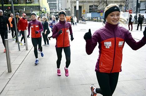 Luikin siskokset vetivät tiistaina juoksuharjoituksen Helsingissä.