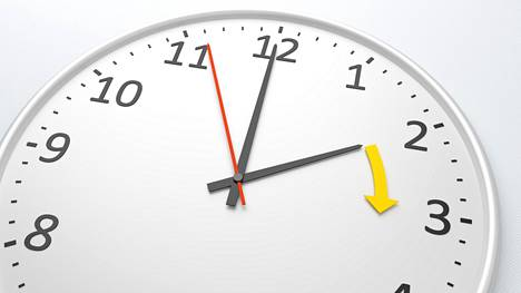 Sunnuntai 25.3. tietää taas kellojen siirtämistä.