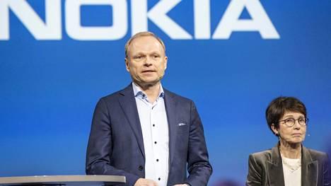 Nokian tuleva toimitusjohtaja Pekka Lundmark ja tuleva hallituksen puheenjohtaja Sari Baldauf ovat molemmat entisiä nokialaisia.