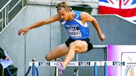 Jussi Kanervo juoksi EM-hopeaa.