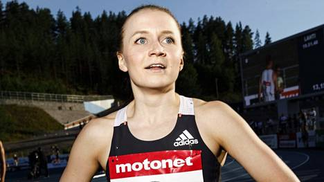 Reetta Hurske pettyi sunnuntain kisaansa. Kuva viime kesältä Lahden GP-kisoista.