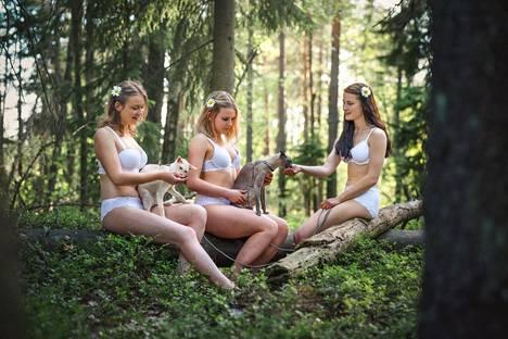 Kaikki kalenterin kuvat on otettu ulkona luonnossa. Tämä kuva löytyy kalenterista kesäkuun kohdalta.