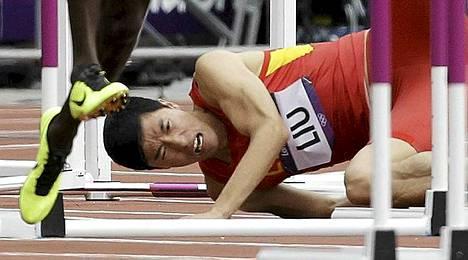 Liu Xiangin kaatuminen ja loukkaantuminen 110 metrin kisan ensimmäisellä aidalla oli yksi koko Lontoon kisojen dramaattisimmista hetkistä.