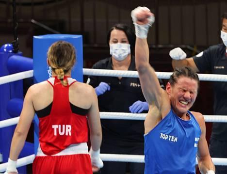 Mira Potkosen tuuletus kertoo kaiken oleellisen: hän saapui Tokioon voittamaan, ei perääntymään.