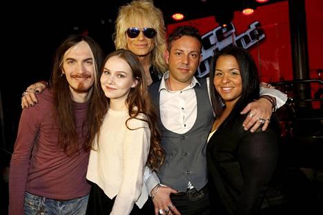 Michael Monroen tiimissä ovat vielä jäljellä Andrea Brosio (vas.), Sara Kurkola, Victoria Shuudifonya ja Plamen De La Bona.