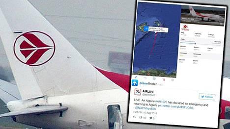 Algeriasta Ranskaan matkalla olleen Air Algerian matkustajakoneen kerrottiin kadonneen tutkasta perjantaina.