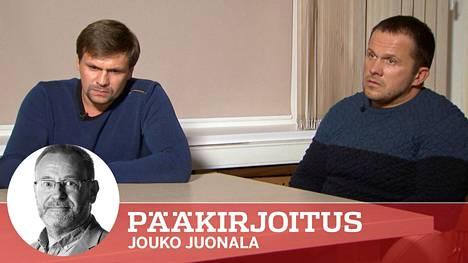 Aleksandr Petroviksi ja Ruslan Boshiroviksi esittäytyneet miehet kiistivät murhasyytökset RT-kanavan haastattelussa torstaina.