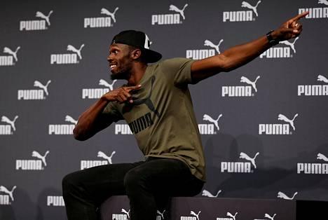 Bolt elehti tuttuun tapaan tilaisuudessa.