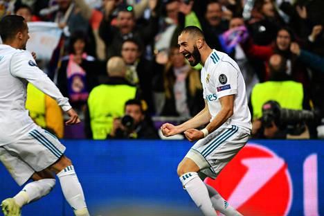 Karim Benzema vei Madridin Mestarien liigan finaaliin.