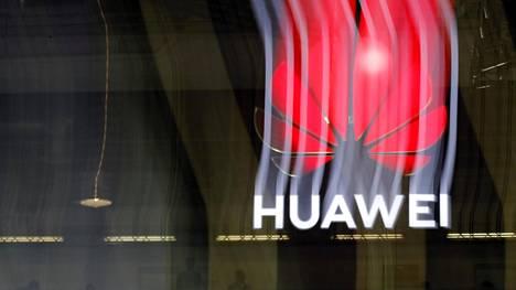 Huawein logo kuvituskuvassa.