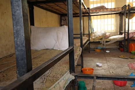 Makuusali, josta oppilaat vietiin.