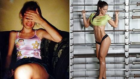 Michelle Lewin ennen ja nyt.