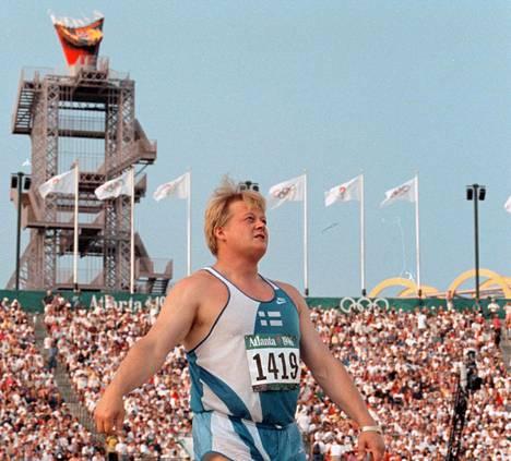Seppo Räty saavutti olympiapronssia Atlantassa 1996.