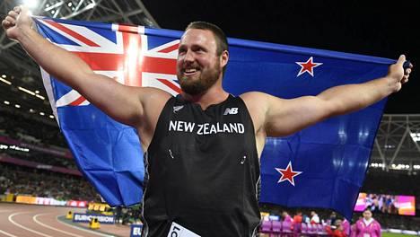 Tomas Walsh voitti kuulantyönnön MM-kultaa.