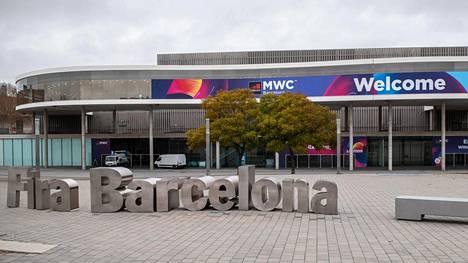 Barcelonan messualue oli ehditty jo valmistella messuja varten.