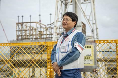 Takahiro Kimoto hoitaa voimalan PR-asioita.
