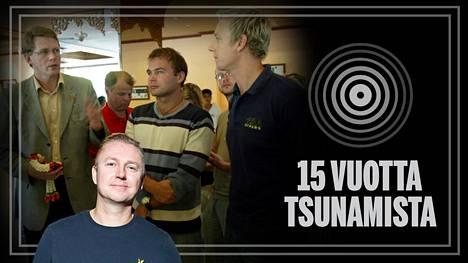 Pääministeri Matti Vanhanen palkitsi Janne Miikkulaisen Suomen Leijonan ritarikunnan ansioristillä.