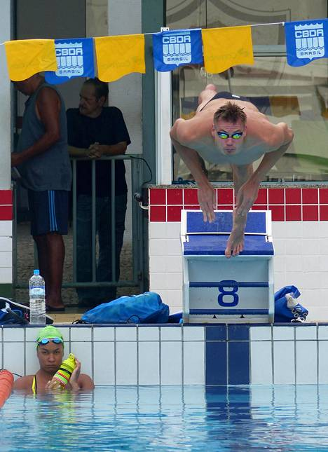 Ari-Pekka Liukkonen harjoittelee olympiakaupunki Rio de Janeirossa kolme viikkoa.