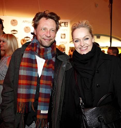 2015: Antti Reini ja Anu Sinisalo kuvattiin tänä vuonna Solarfilmin 20-vuotisjuhlissa.