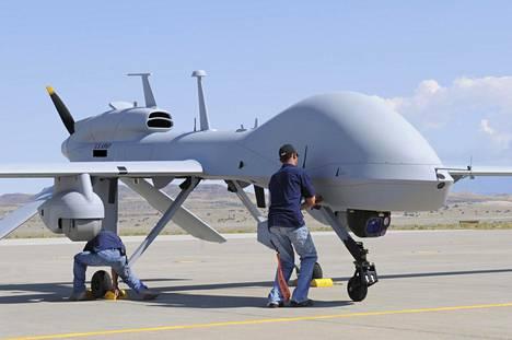 MQ-1C Gray Eagle näytillä Utahissa, Yhdysvalloissa vuonna 2013.