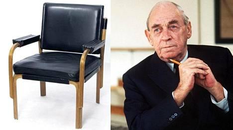 Alvar Aallon nahkainen nojatuoli myytiin torstaina ennätyshintaan.