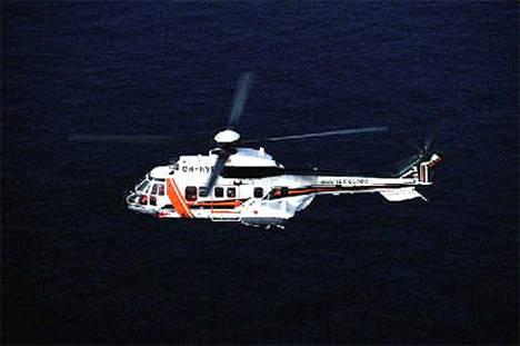 Turmahelikopteri tällainen Suomen merivartiostonkin käyttämä Super Puma.
