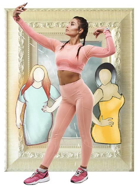 Nykyihanteen mukaan kauneuteen liittyy terveys, liikunnallisuus ja säteilevyys.