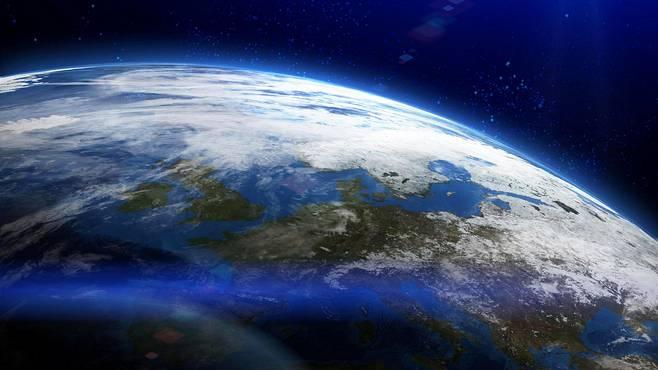 Maa-planeetta avaruudesta nähtynä.