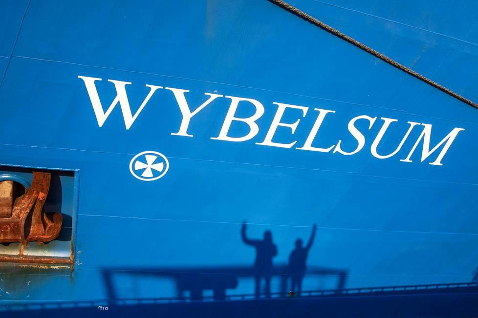 Konttialus Wybelsum käy Kotkassa melkein joka viikko.