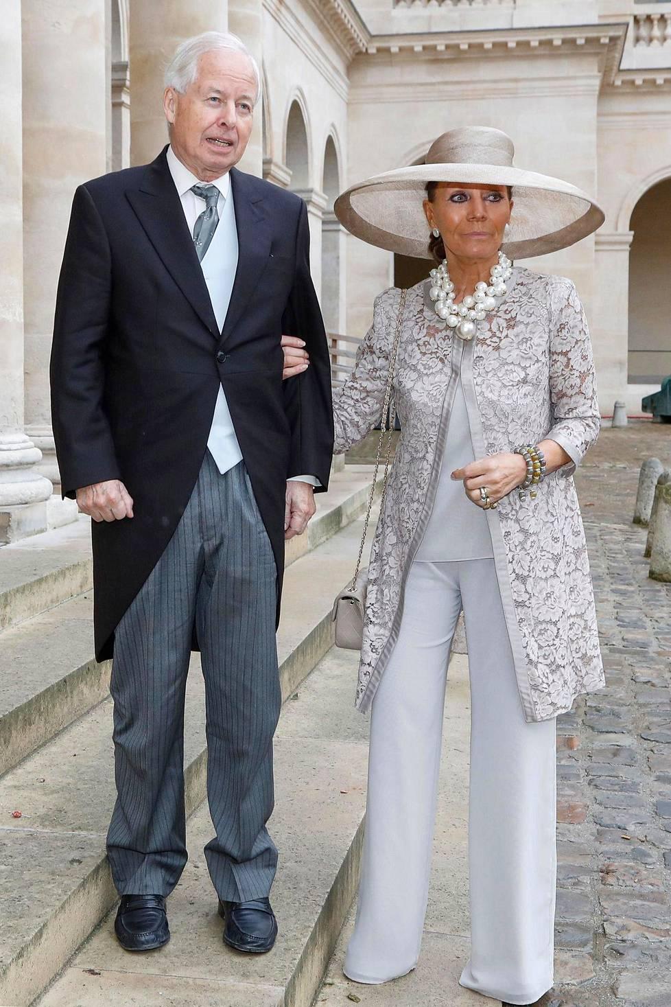 Liechtensteinin prinssi Philipp Erasmus ja hänen vaimonsa prinsessa Isabelle lArbre de Malander.