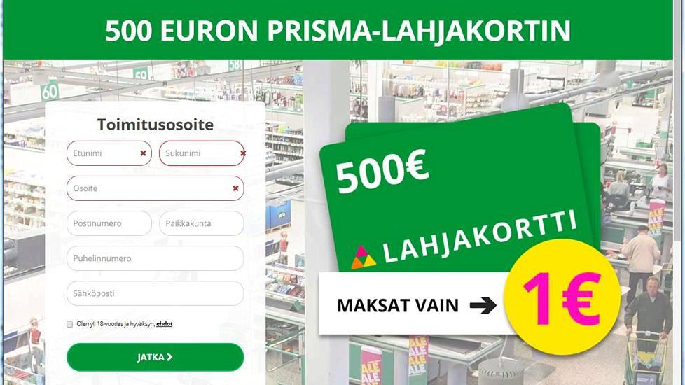 Prisman lahjakortti 500€