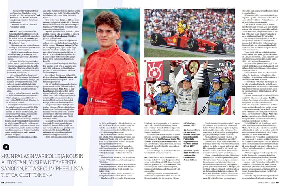 Tämä juttu julkaistiin ensi kerran keväällä Urheilulehden F1-kausioppaassa.
