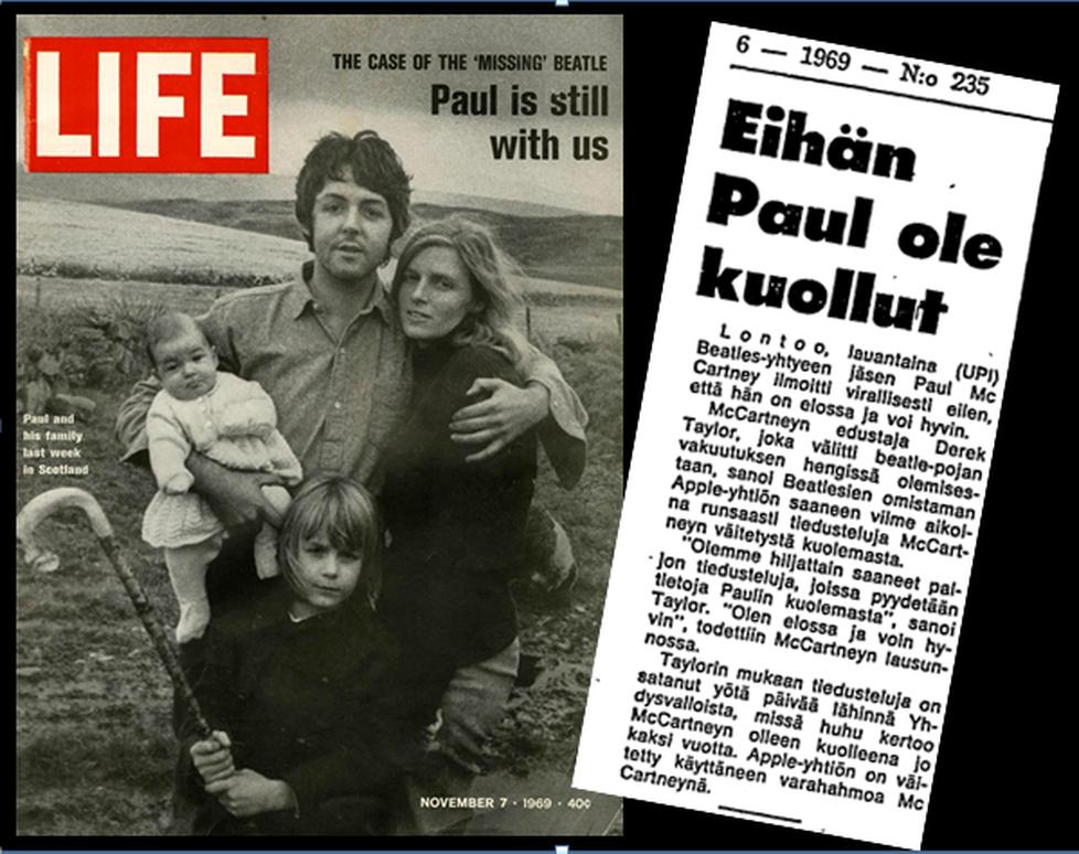 """Paul McCartney antoi Life-lehdelle haastattelun """"Paul is Dead""""-kohun aikana. Ilta-Sanomatkin leikkasi huhulta siipiä."""
