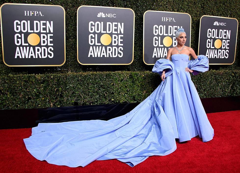 Lady Gagan asu kaikessa kauneudessaan. Gaga oli ehdolla parhaaksi naispääosan esittäjäksi roolistaan A Star Is Born.