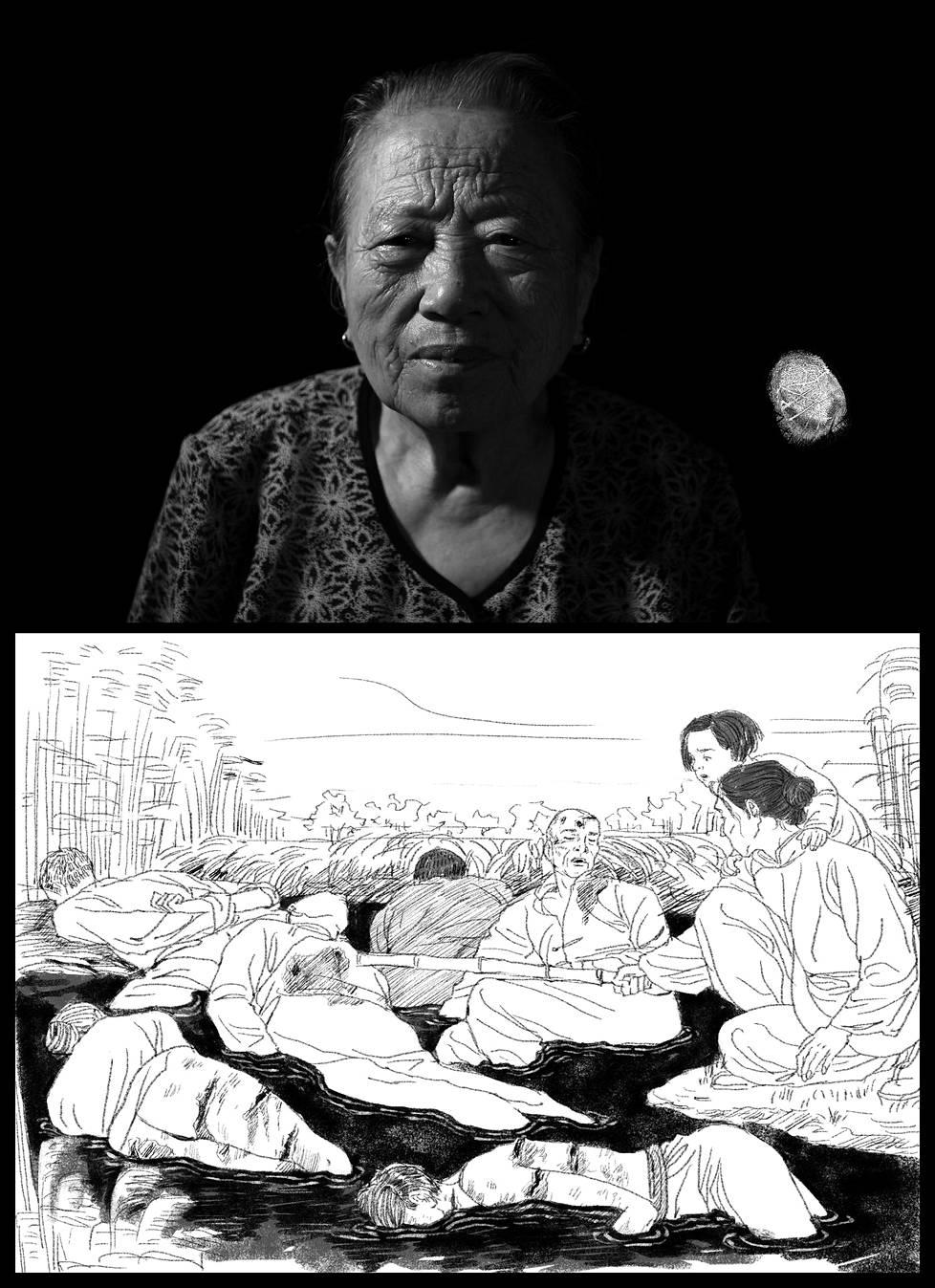 101-vuotias Shi Xiuying on viimeisiä Nanjingin verilöylyn eloonjääneitä. Shi löysi 1937 isänsä kuolleena isosta ruumiskasasta. Japanilaiset lastasivat hänen vanhimman veljensä kuorma-autoon, eikä häntä nähty enää koskaan.