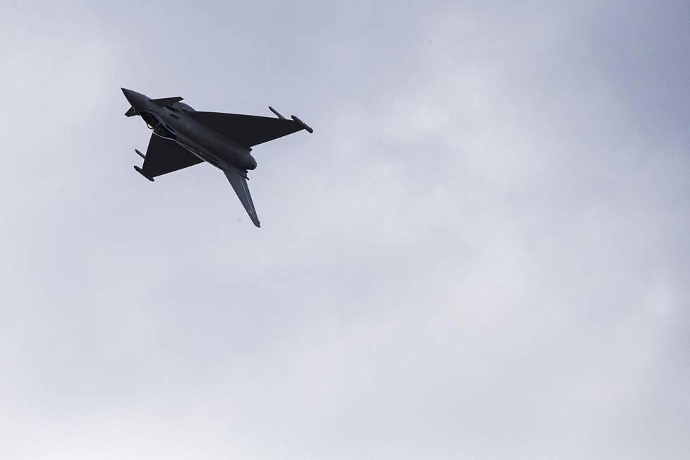 Eurofighter Typhoon on ehdolla Ilmavoimien Hornetin korvaajaksi.