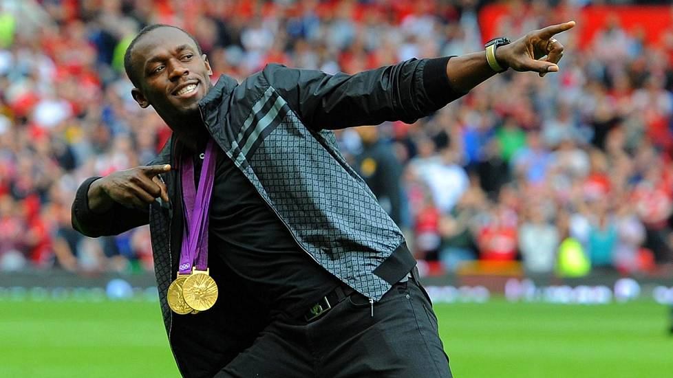 Usain Bolt on Manchester Unitedin fani.